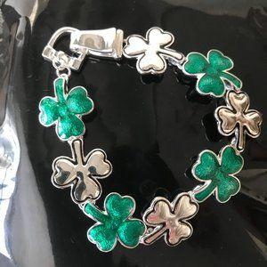 Shamrock Bracelet Magnetic Closure St Patricks Day
